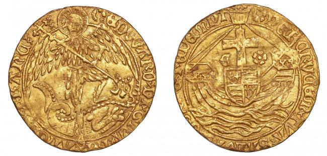 The Angel coin from the reign of Edward V, which was discovered by Brian Biddle