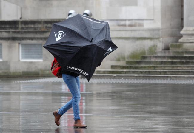 Warning as gusts of wind up to 80mph expected on Wednesday