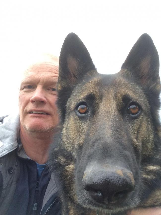Selfie with my German Shepherd Tilly