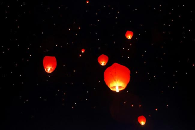BANNED: Sky lanterns have been banned by Dorset local councils