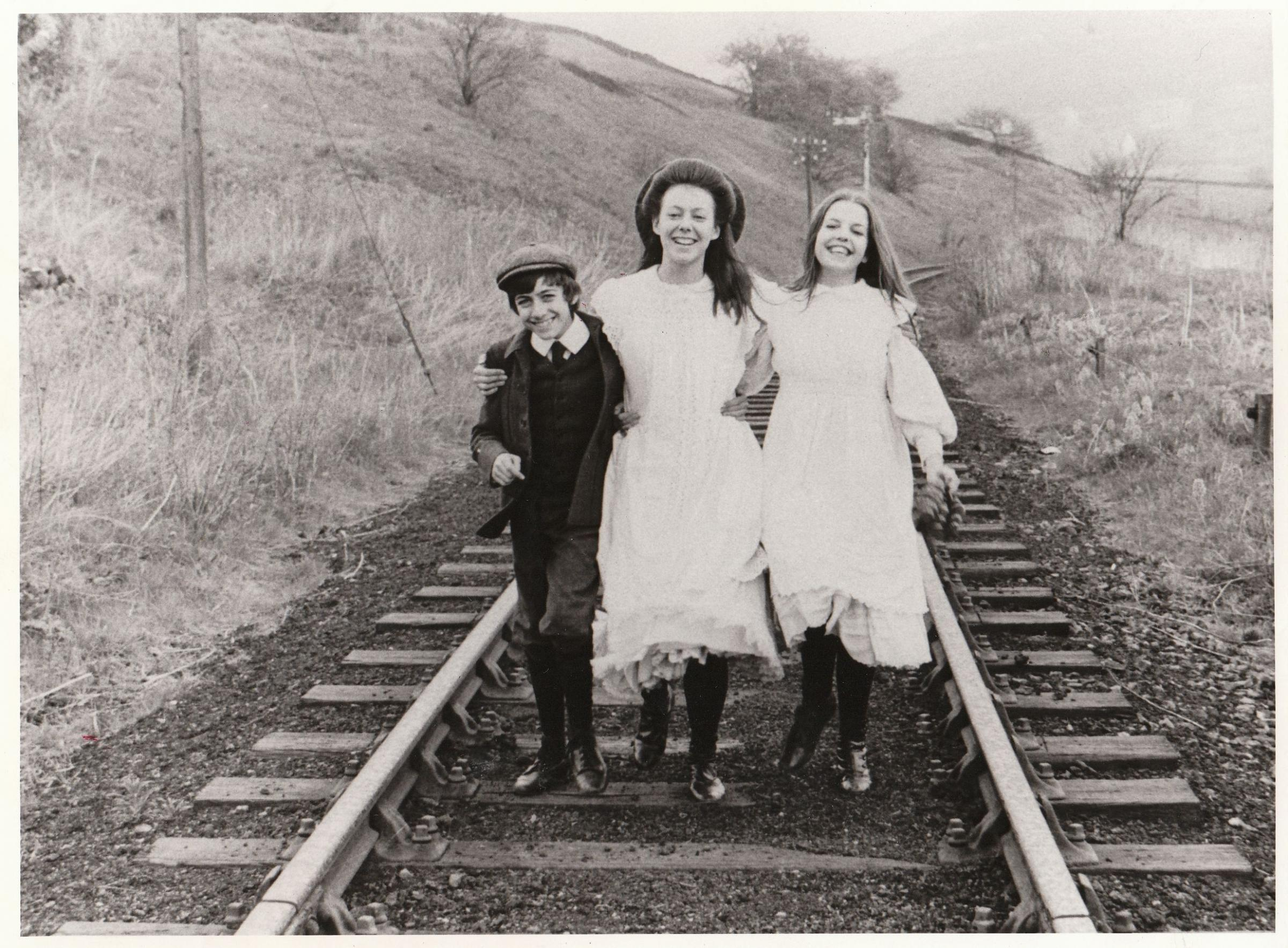 Film still from The Railway Children-pictured are L-R Gary Warren,Jenny Agutter and Sally Thomsett