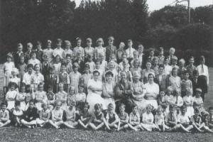 SCHOOL: Cerne Abbas School in 1956. Barbara is sixth from the left in the second row from the front
