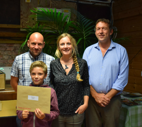 WINNER: Charlie Giltrow, his dad, David Giltrow, RHS qualified gardener Kate Bradbury and managing director of The Gardens Group, Mike Burks