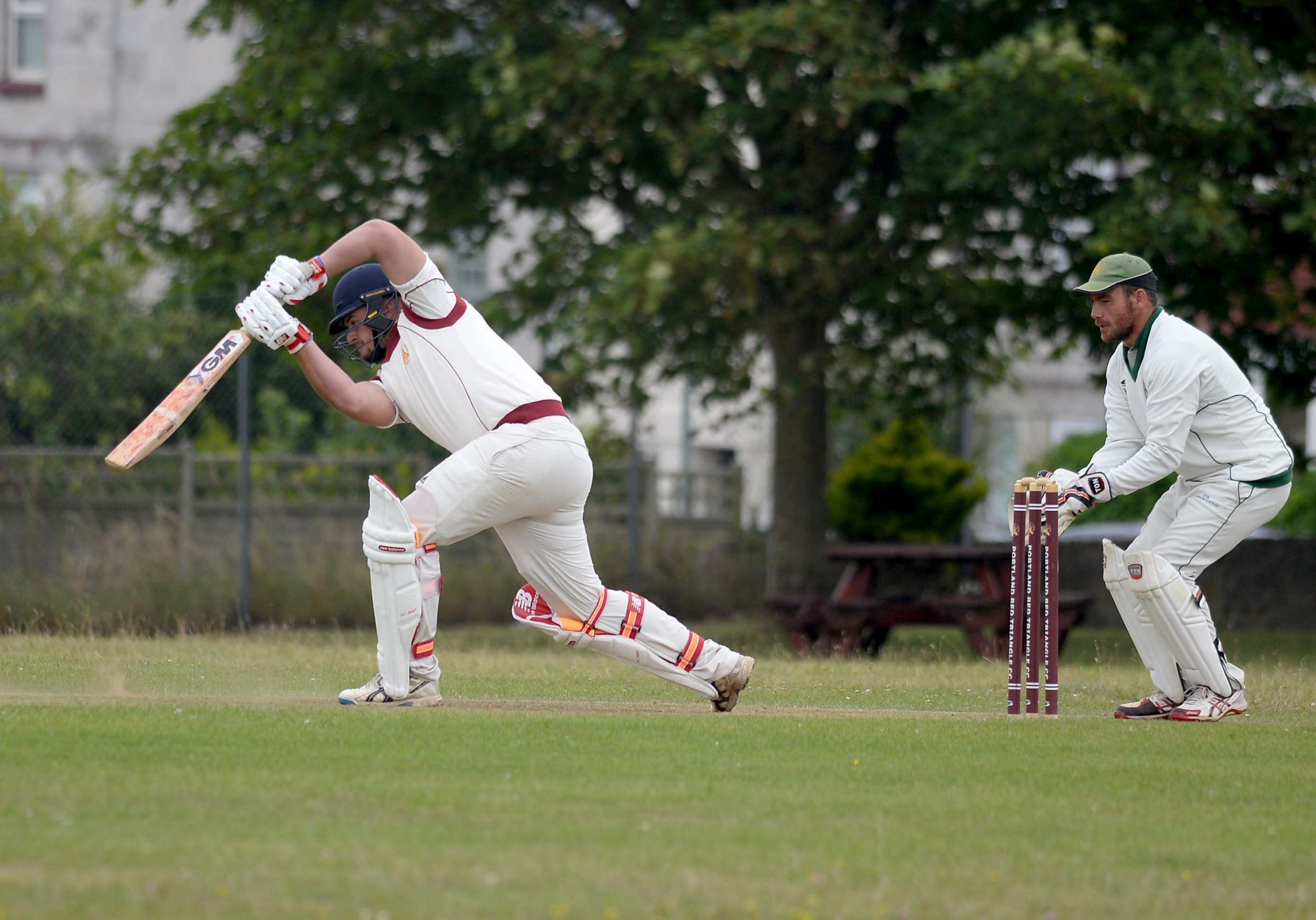 TOP SCORER: Callan Laws hit a superb 45 against Marnhull at Reforne                Picture: FINNBARR WEBSTER/F19138