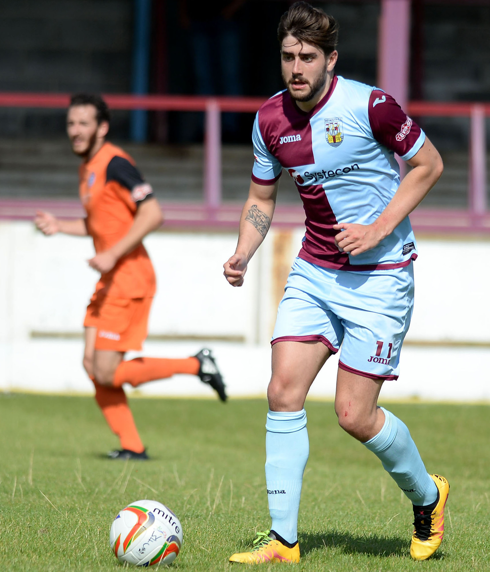 QUICK START: Josh Wakefield scored for Weymouth after just 28 seconds. Picture: FINNBARR WEBSTER/F19160