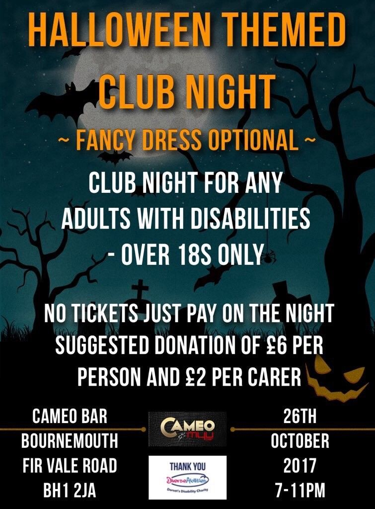 Halloween Disabilities Clubbing Night