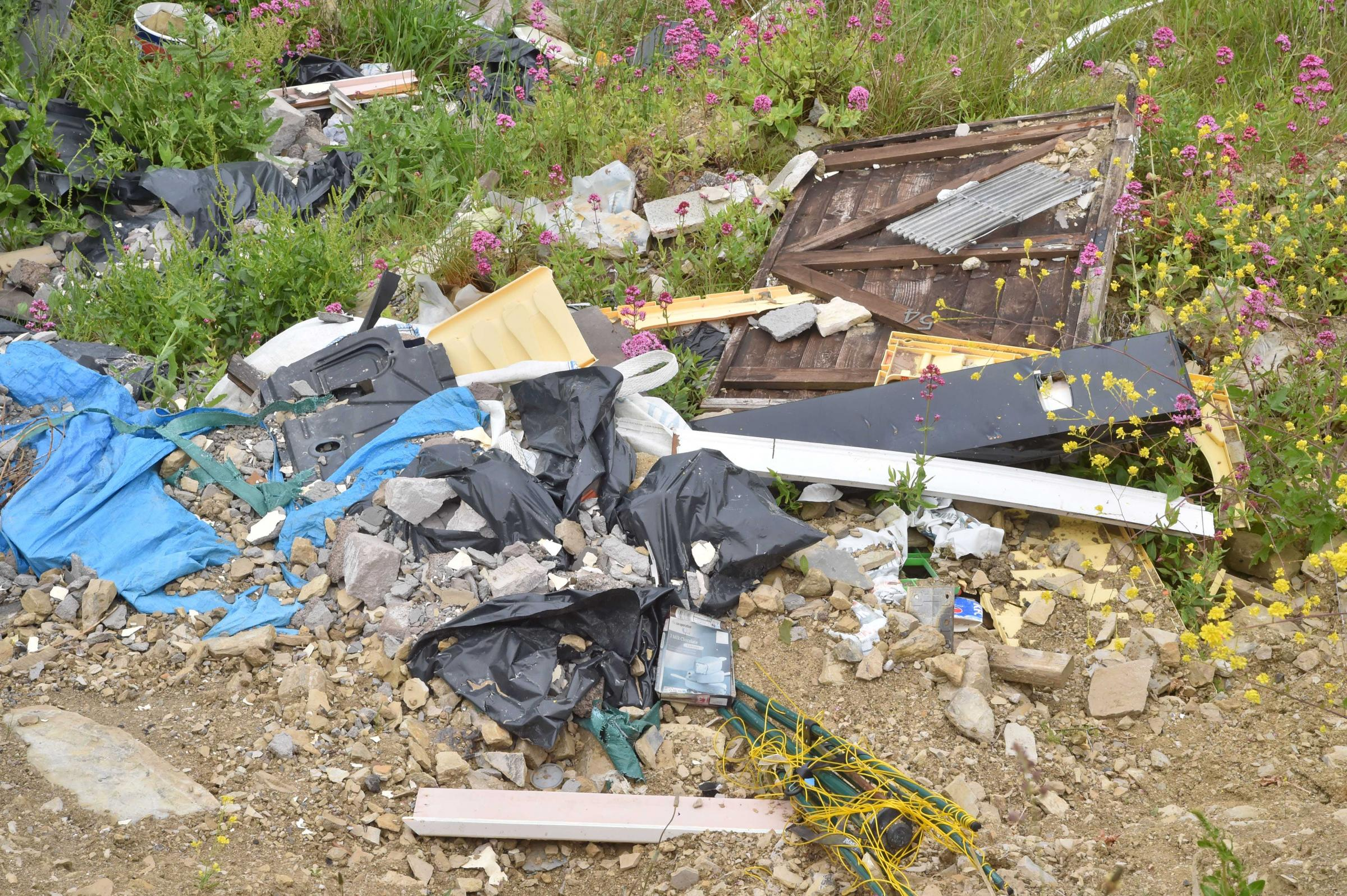 Fly-tipped rubbish on Portland