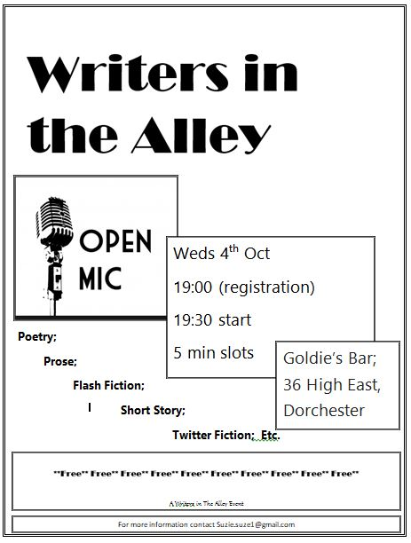 Writers in the Alley - Open Mic night