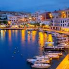 Dorset Echo: Calasfonts Cales Fonts Port sunset in Mahon at Balearic islands