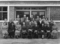 Staff at the opening of the new school building in 1953
