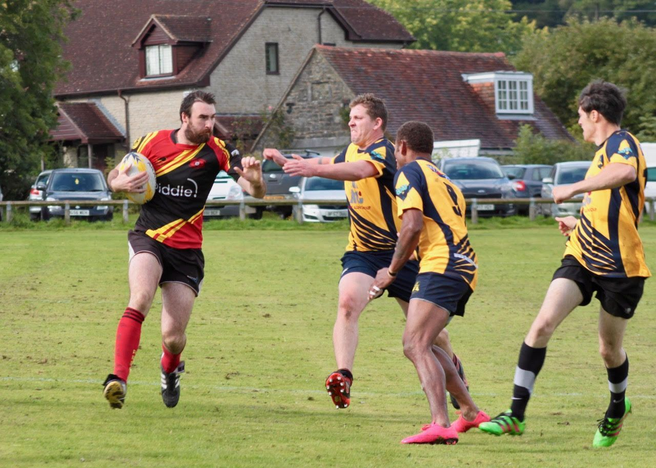 SCORED TWO TRIES: James House, left
