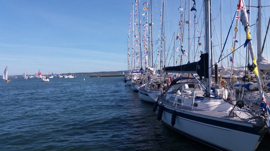 MOORED UP: Chris and Tess Reid sailed their yacht Monterey to Lymington for a Hallberg Rassy Owners Rally