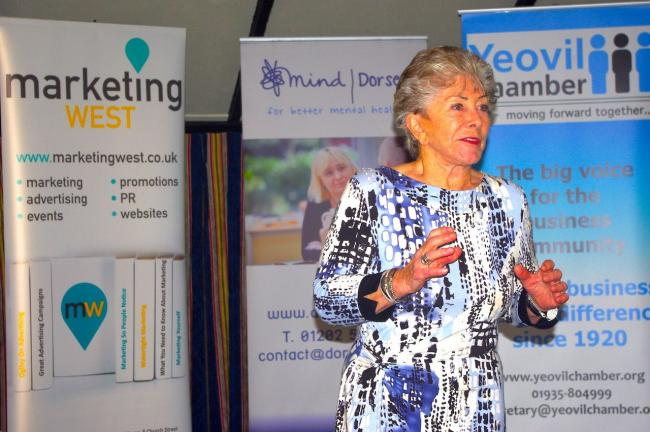 MIND MATTERS: Valerie Singleton speaks at a charity breakfast for Dorset Mind Picture: MARKETING WEST