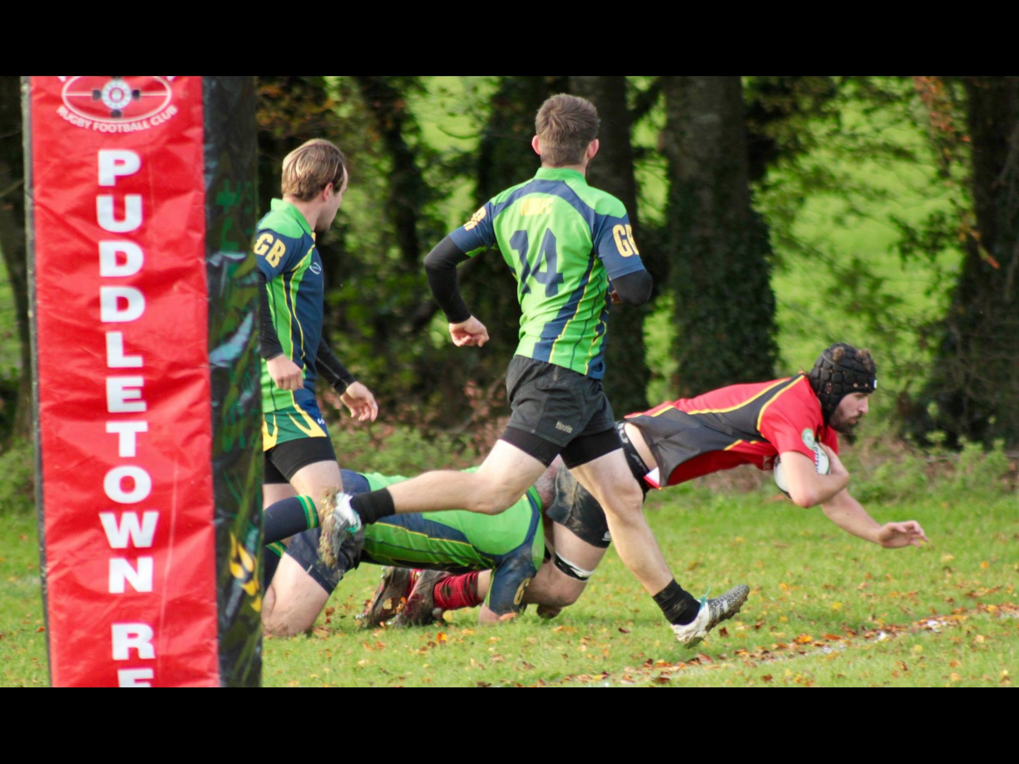 DOUBLE: Puddletown's second row Tom Nickisson scored two tries Picture: CHRIS EDWARDS