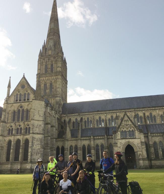 RIDE AND STRIDE: Cyclist raised thousands for church repairs Picture: Salisbury Cathedral