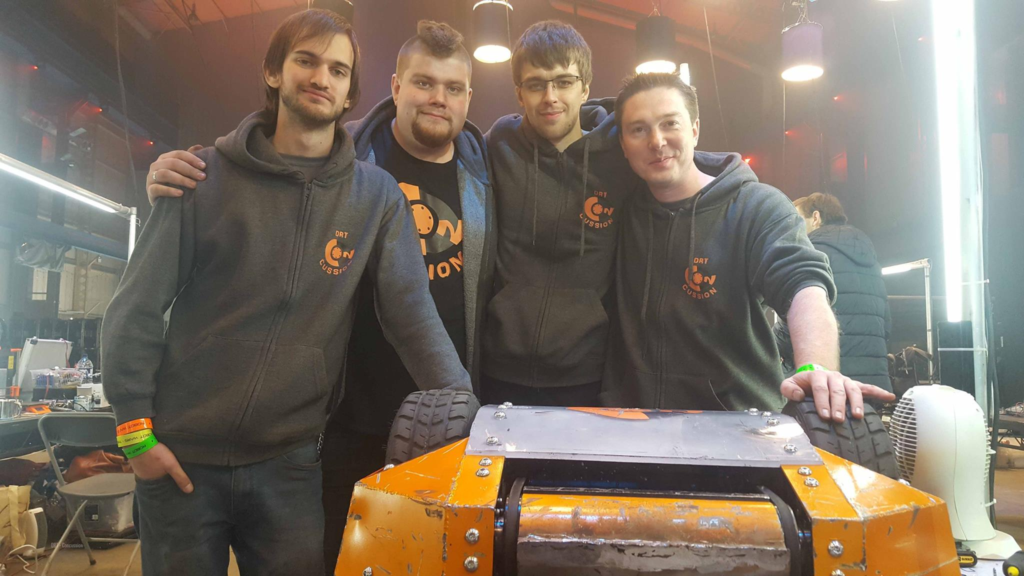 BATTLE: Dorset Robot Wars team