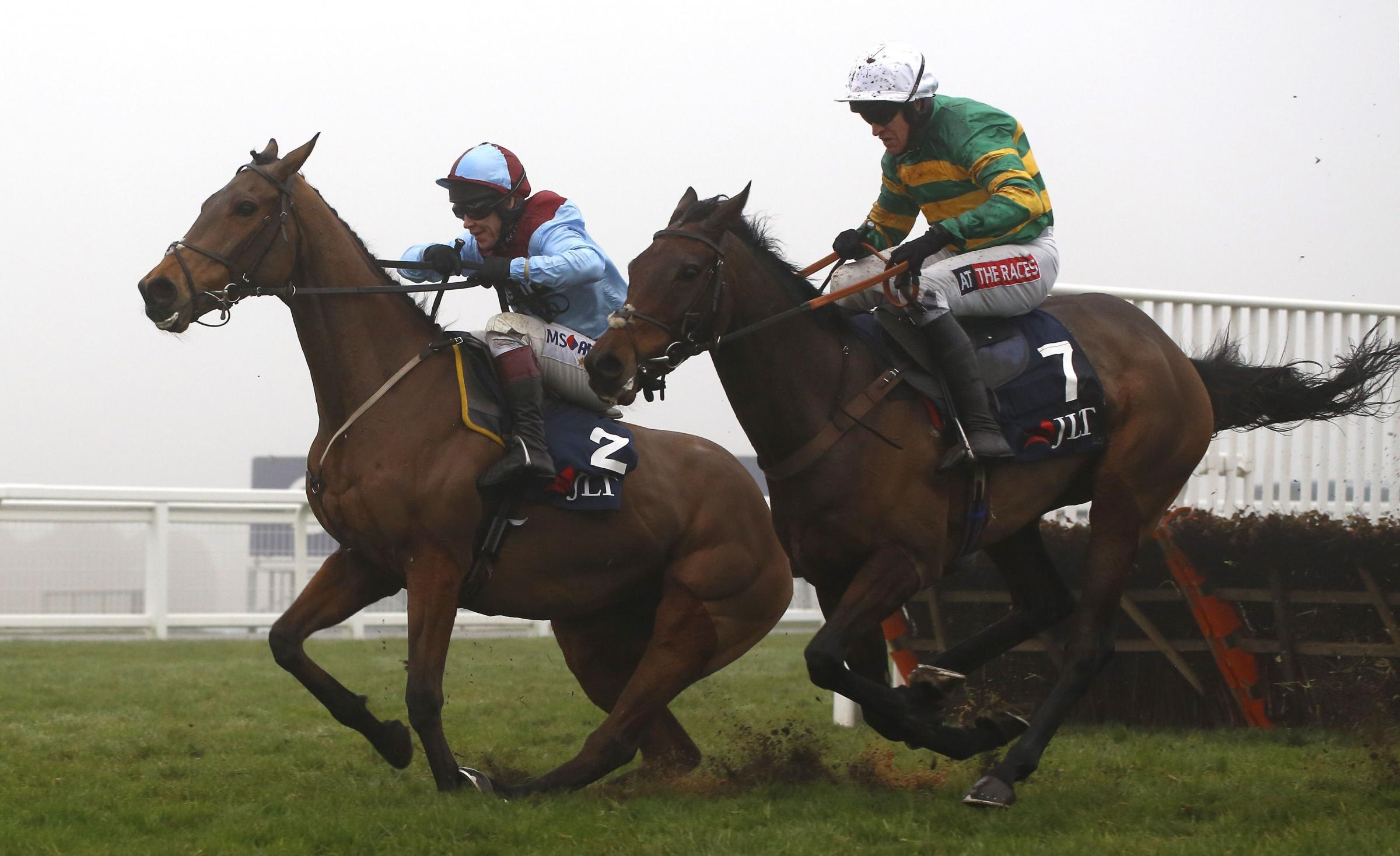 WINNER: Unowhatimeanharry wins under Barry Geraghty, right, at Aintree. Picture: JULIAN HERBERT/PA WIRE