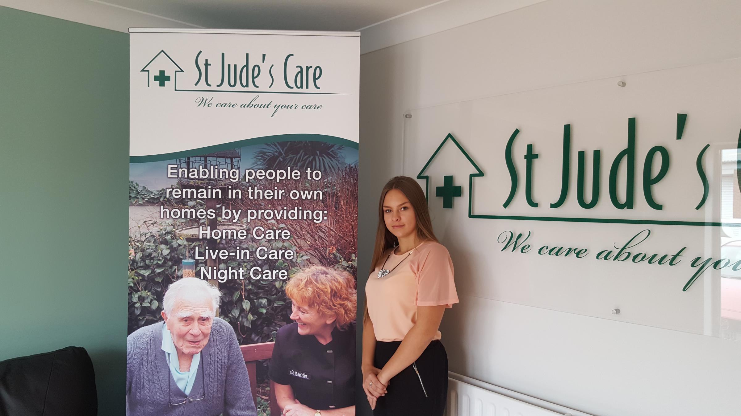 Amelia Townsend, new apprentice at St Jude's Care