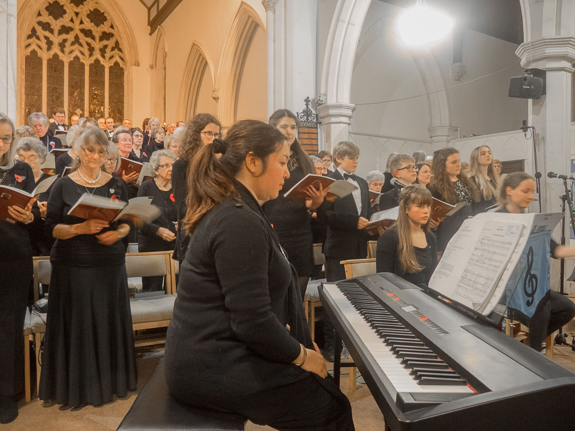 CONCERT: Louise Dukes and the Weymouth Choral Society Choir Picture: Norman Hartley