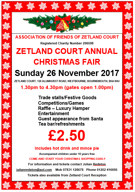Zetland Court Nursing Home Annual Christmas Fair