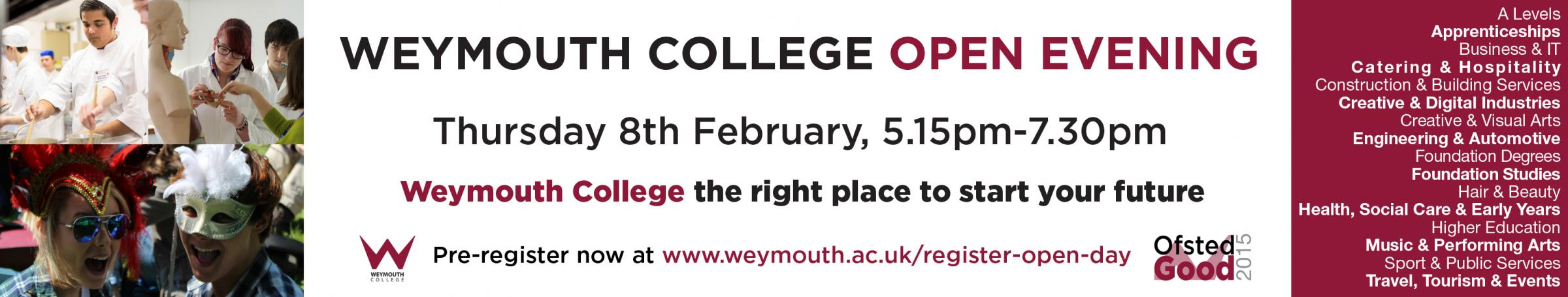 Weymouth College Open Evening