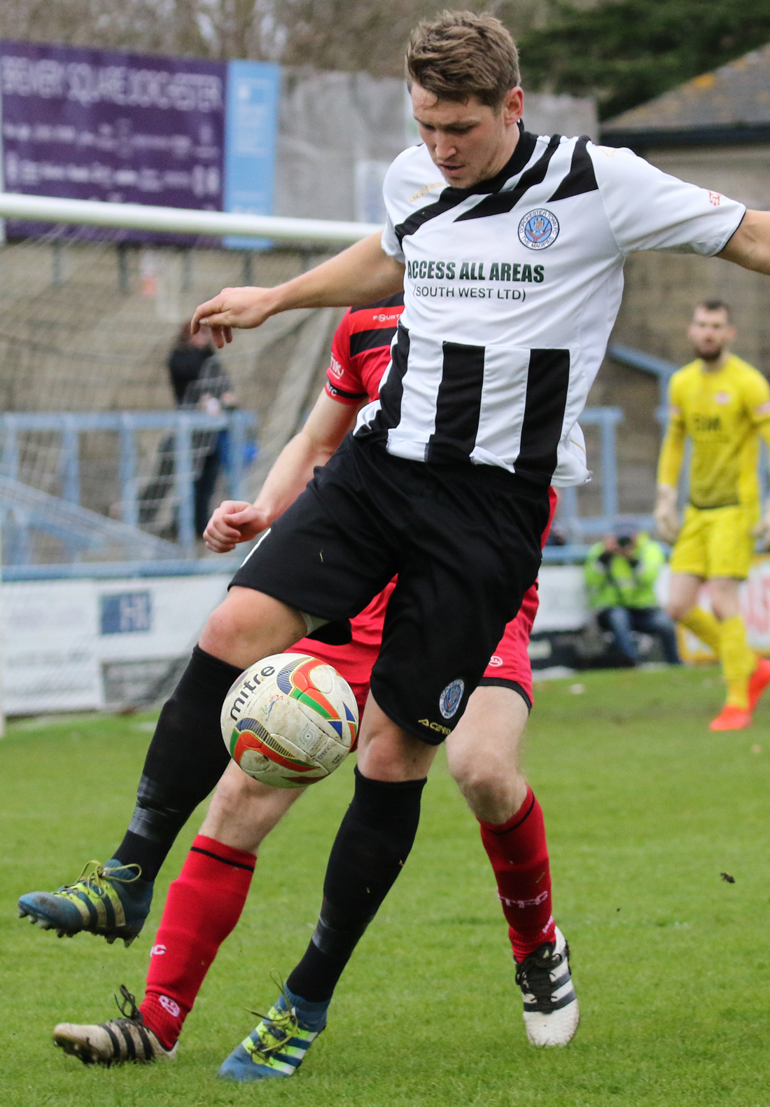 MISSED PENALTY: Phil Ormrod saw a late spot-kick saved                         Picture: PHIL STANDFIELD