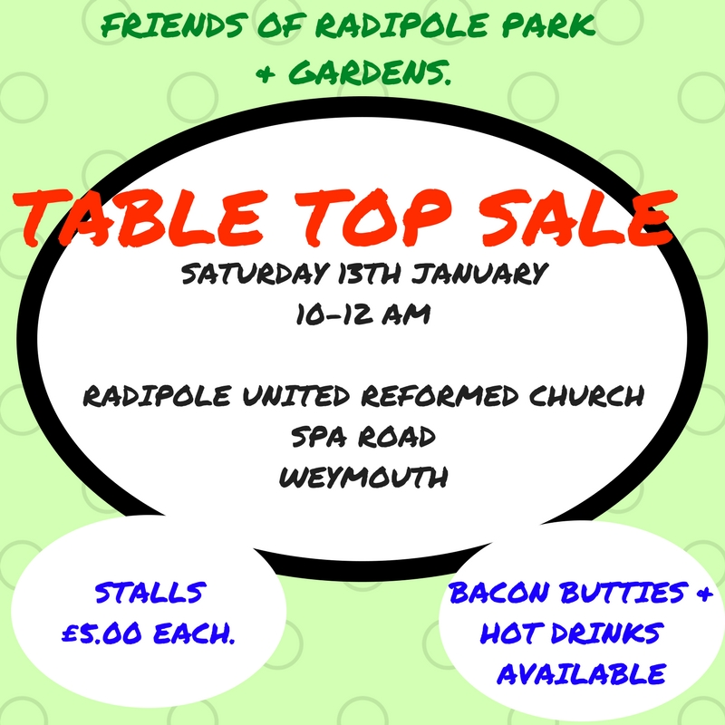 FRIENDS OF RADIPOLE PARK & GARDENS TABLE TOP SALE
