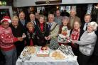 Christmas veterans' rendezvous, RAFA club, Mayor Kevin Brookes and mayoress Anne Brookes, cut the cake, 13/12/17, PICTURE: FINNBARR WEBSTER/F19385
