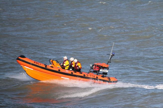 Lifeboat launched to kite surfer in difficulties in Weymouth Bay