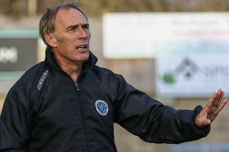 UNFAZED: Steve Thompson refused to criticise the officials after Dorchester's 1-1 draw with Dunstable Town Picture: PHIL STANDFIELD