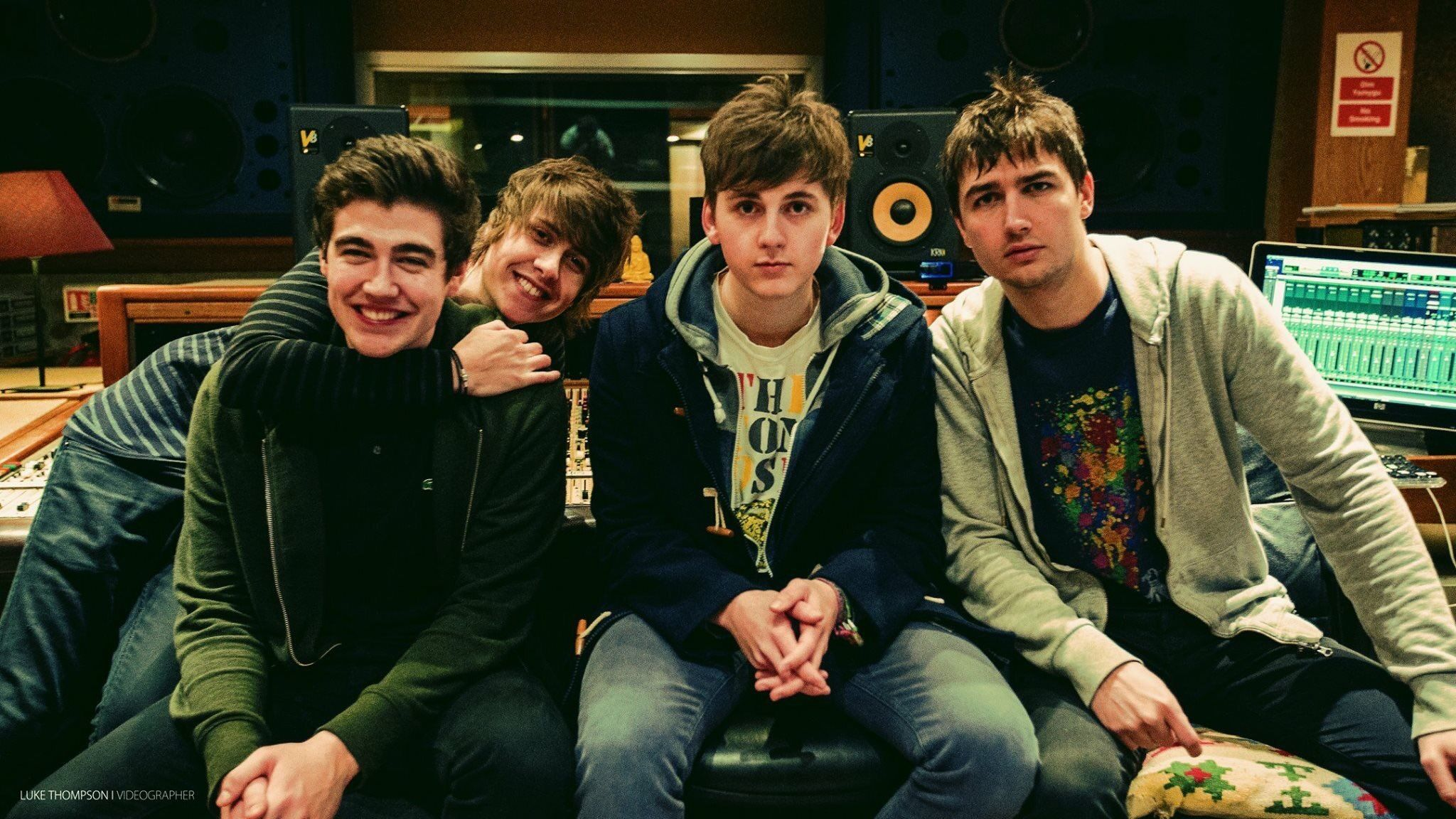 The Sherlocks recording debut album at world famous Rockfield Studios (credit Glenn Ashley)_