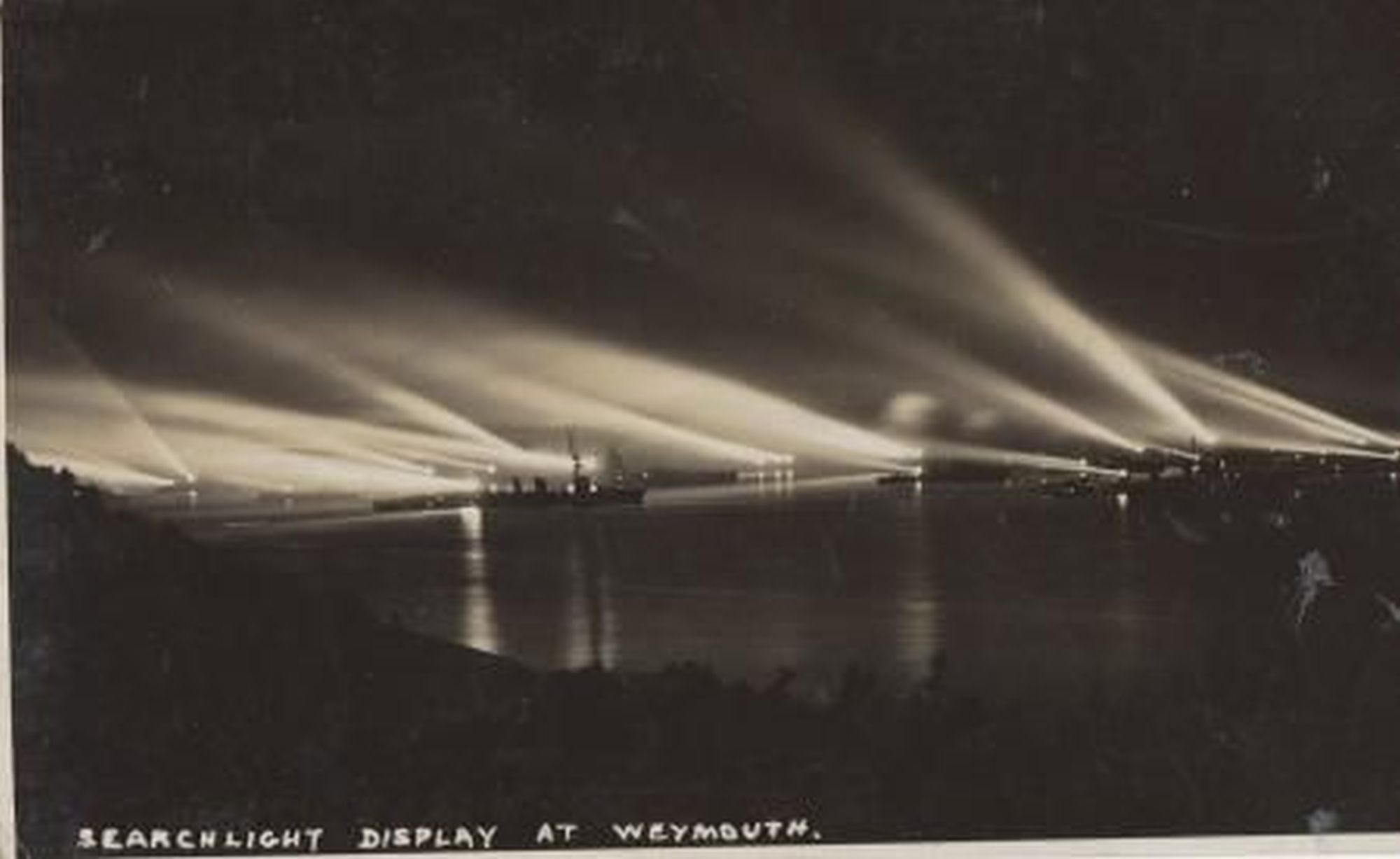 LOOKING BACK: Searchlight display at Weymouth