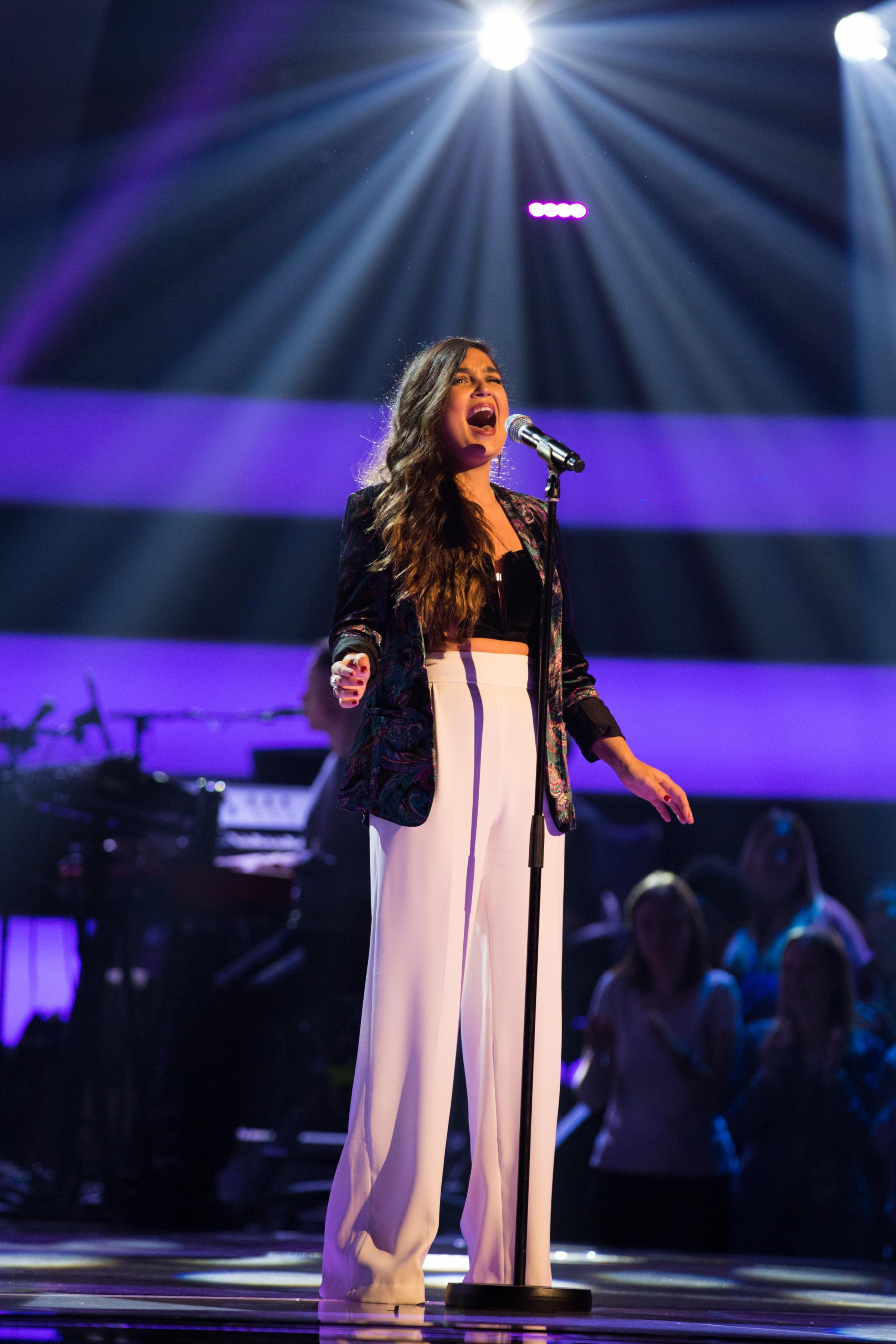 Lauren shines as she wows judges on The Voice