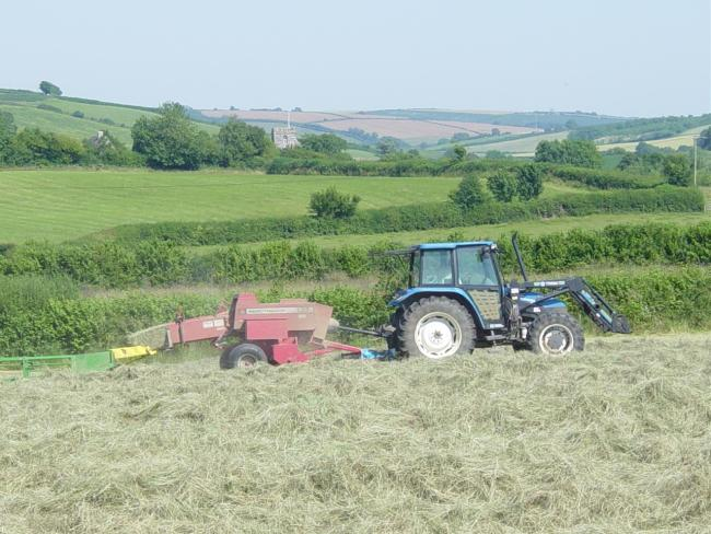 ENVIRONMENT: A tractor ploughing at Kingcombe Picture: Steve Davis