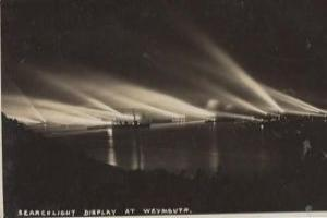 What do we know about the mass of searchlights in Weymouth bay?