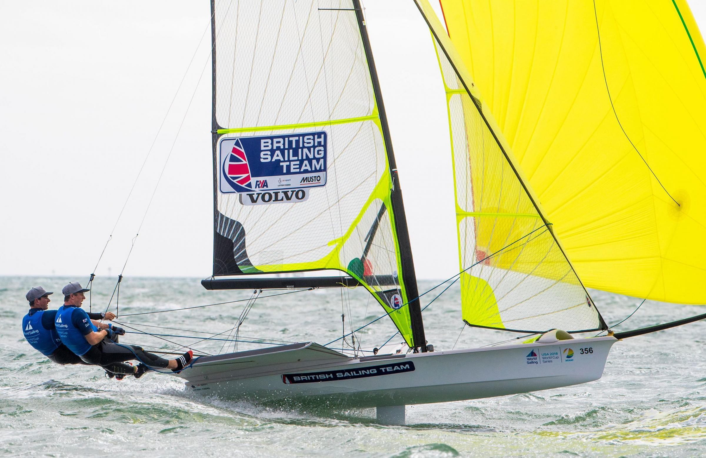 EDGED OUT: Stuart Bithell and Dylan Fletcher finished fifth Picture: TOMAS MOYA/SAILING ENERGY