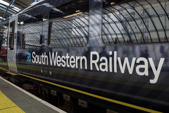 STRIKE: A South Western Railway train   Picture: Victoria Jones/PA Wire