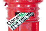 Dorset Echo: Red Postbox with Echo