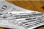 Dorset Echo: Newspaper Delivery Stack