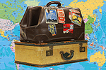 Dorset Echo: Suitcases with Map