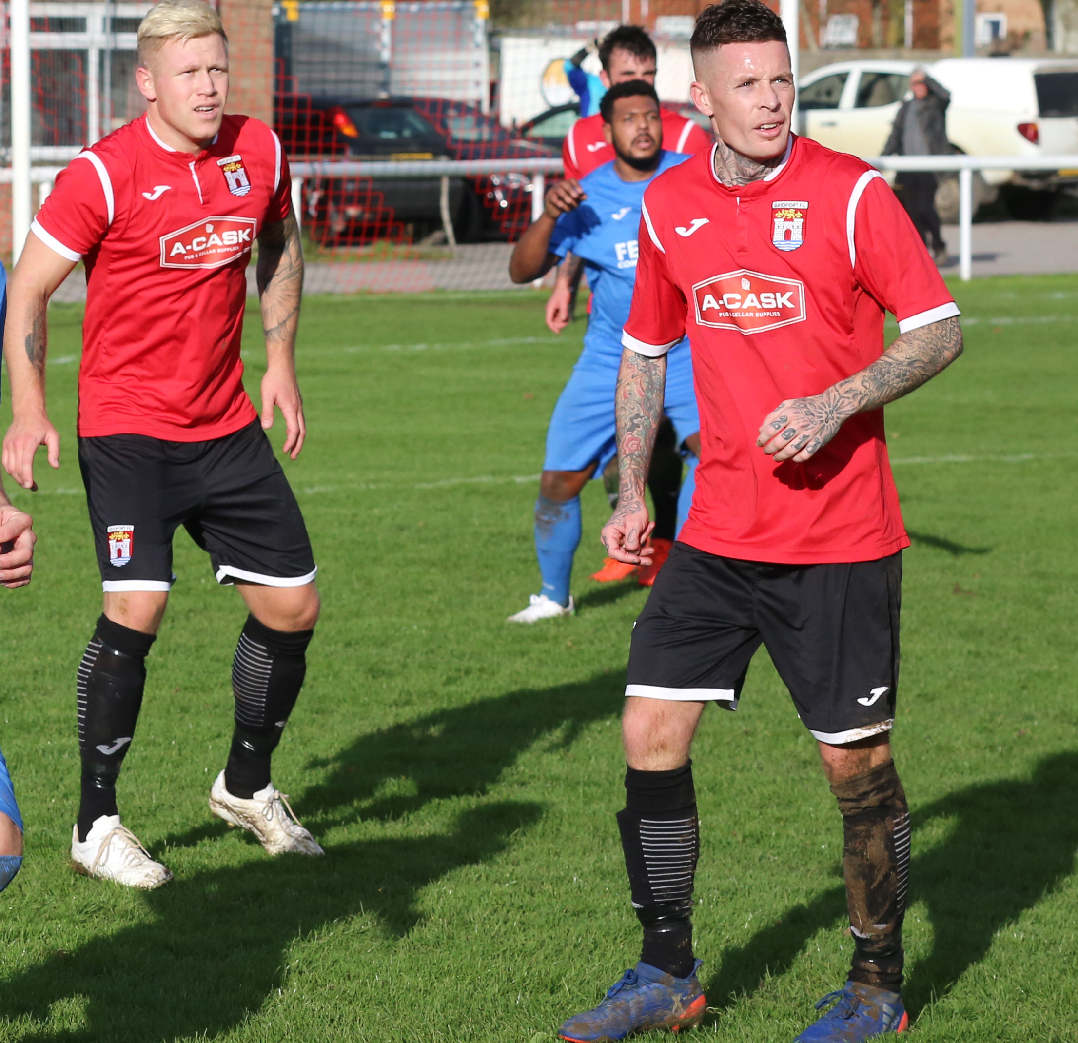 KNEE INJURY: Jon Vance, right, could be out until the end of February           Picture: MAISIE HILL