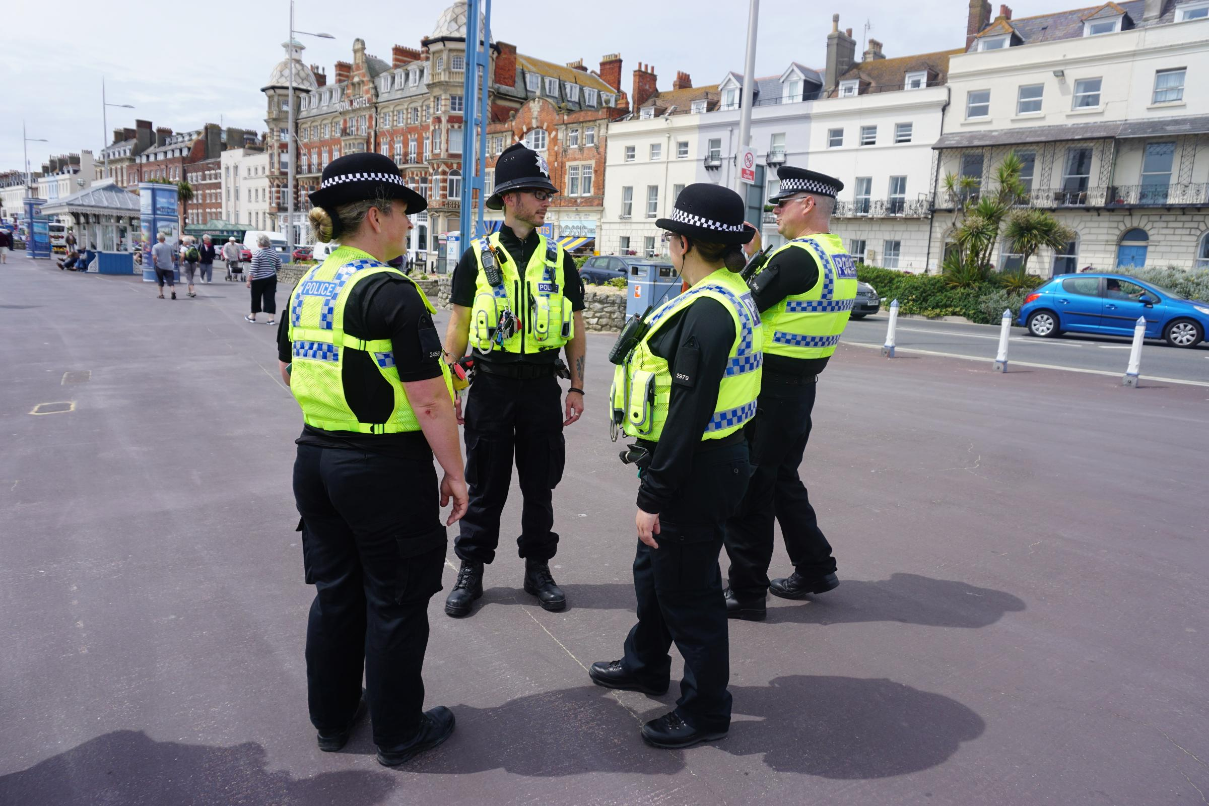 Police deal with group of youths causing trouble in town centre