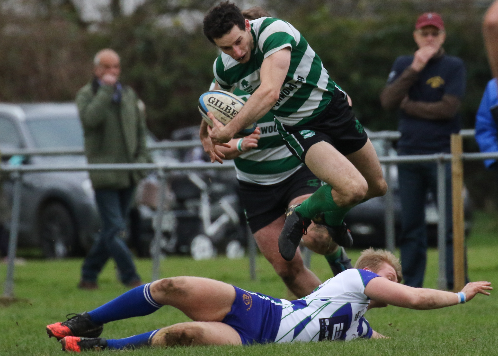 FLASH OF INSPIRATION: Dorchester's Harry Charlier scored two tries    Picture: PHILLIP STANDFIELD