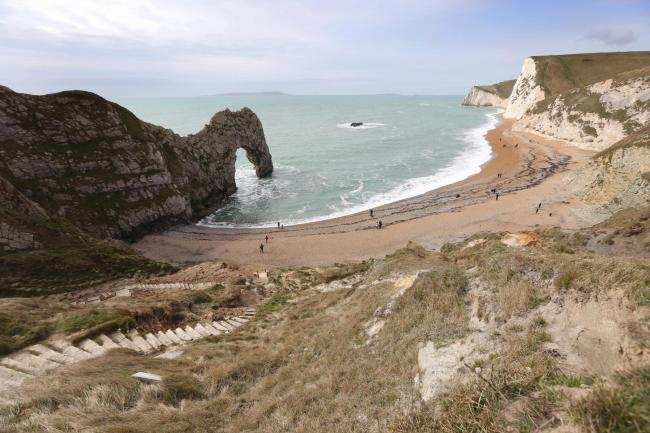 Man stretchered to safety after injury at Durdle Door