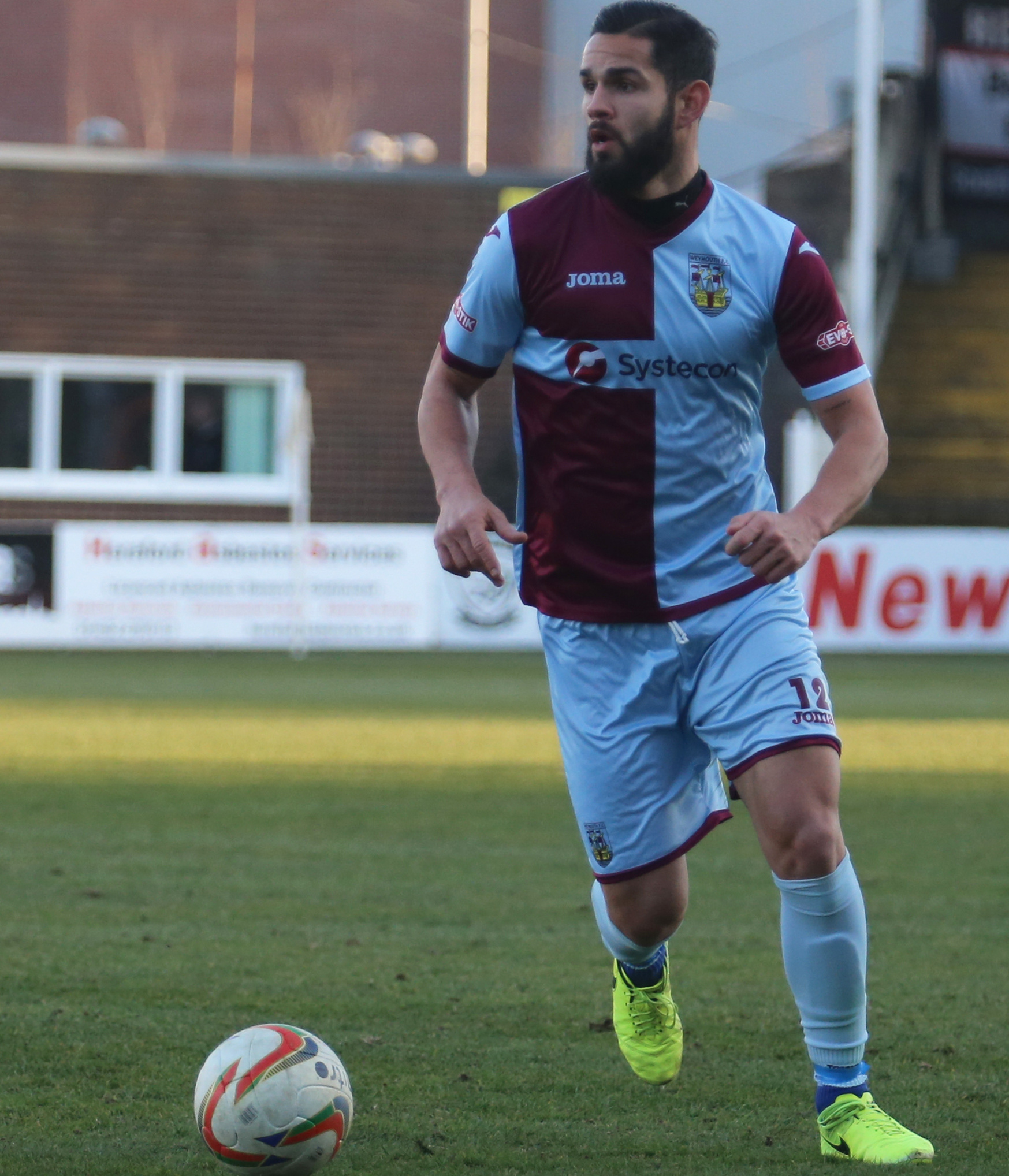 EXIT: Thiago Caze da Silva has left Weymouth to return to Brazil Picture: MARK PROBIN