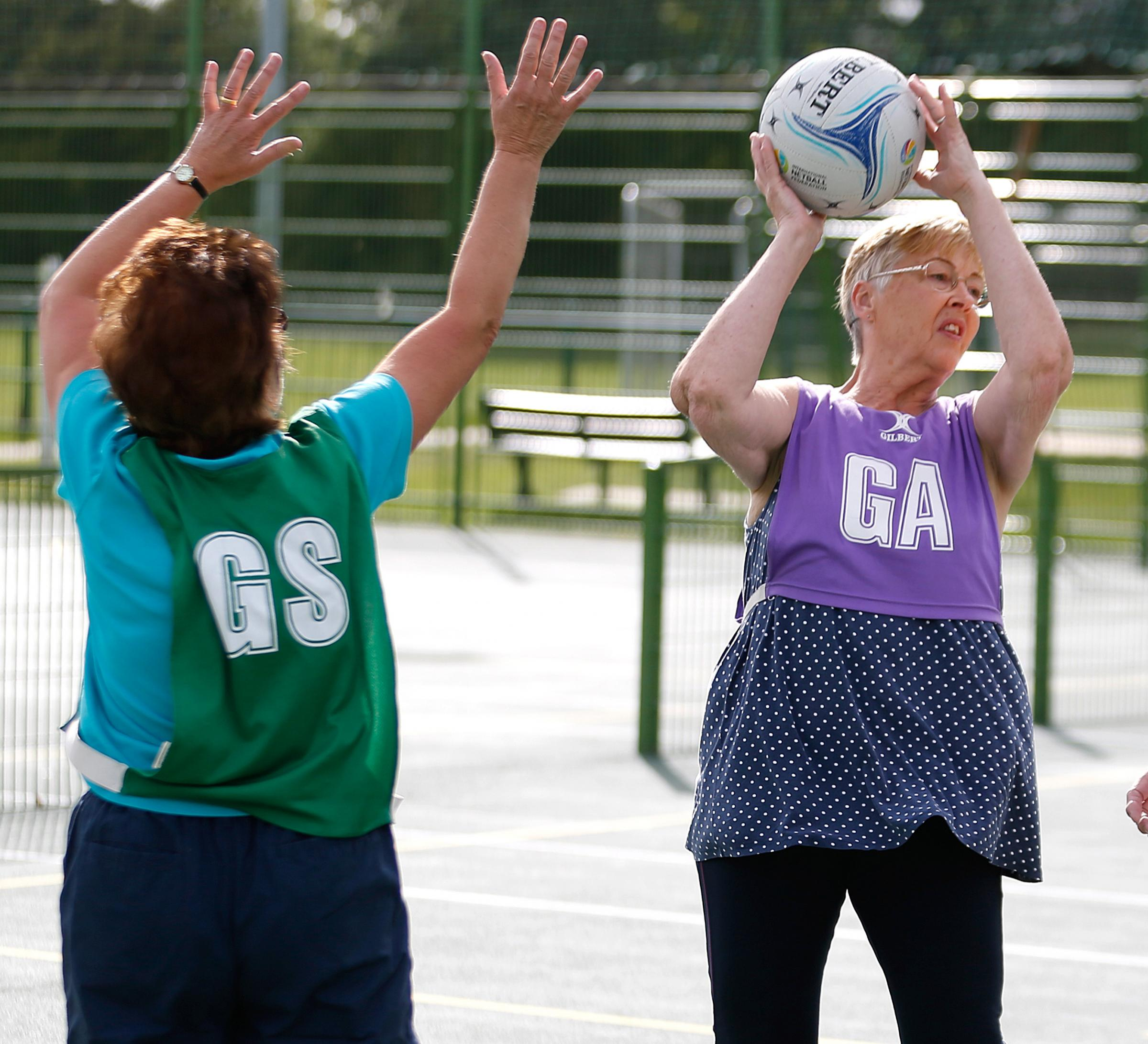 BUDMOUTH SESSIONS: Play underway in a game of walking netball