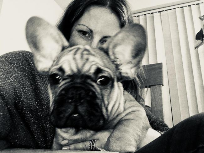 Me and Cosmo  (Frenchie pup)