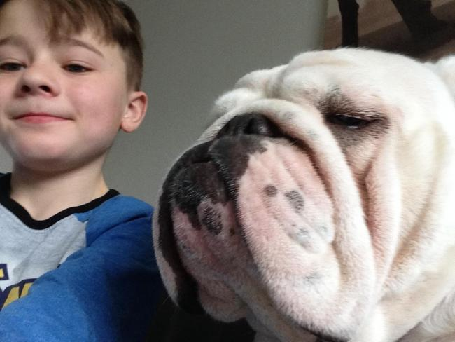 Lewis 8yrs took a selfie with his dog Dot
