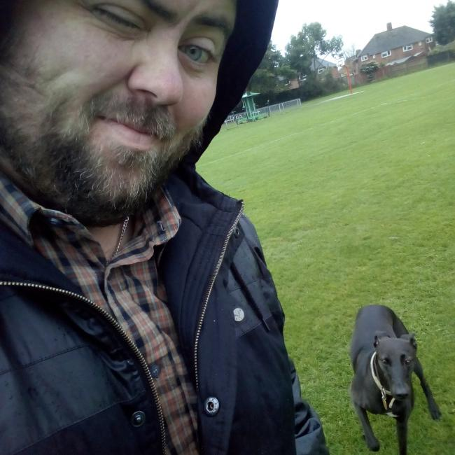 My space invading whippet lurcher Tara!