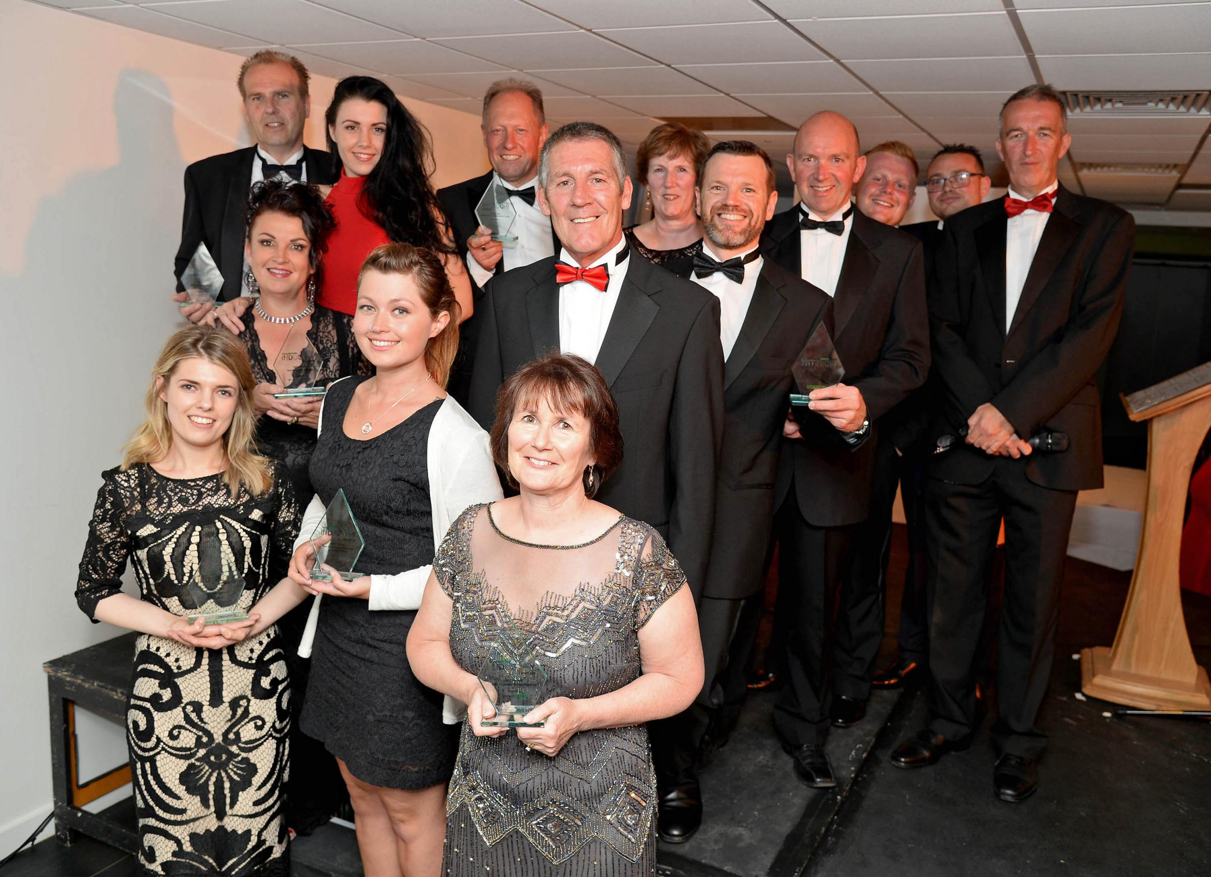 The Dorset Echo Industry Awards 2017 winners. Picture: Finnbarr Webster